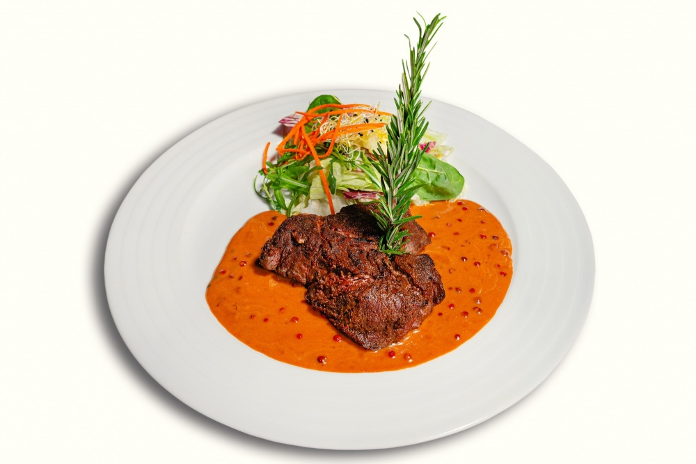 Pepper steak 13,65 €/ 200g